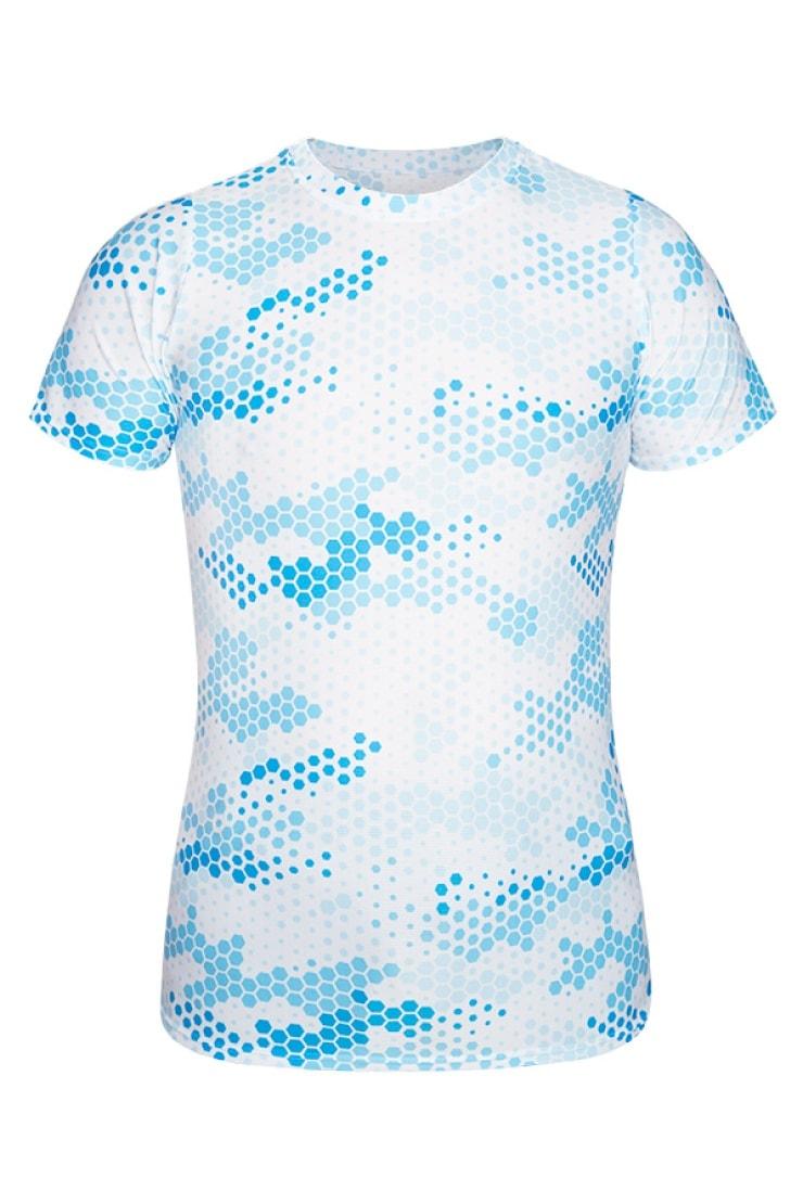 uptou koszulka blue moro